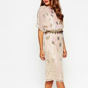 ASOS Red Carpet Sequined Kimono Dress Sz 4